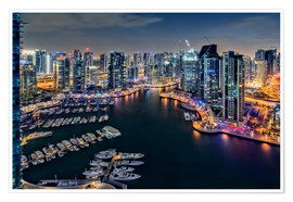 Premium poster Dubai Marina at dawn