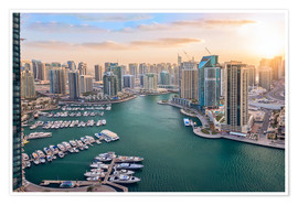 Premium poster Dubai Marina at Sunset