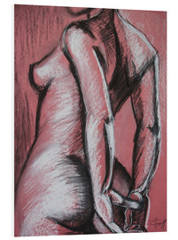 Foam board print  Graceful Pink - Female Nude - Carmen Tyrrell