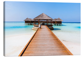 Canvas print  Jetty and overwater bungalows, Maldives - Matteo Colombo