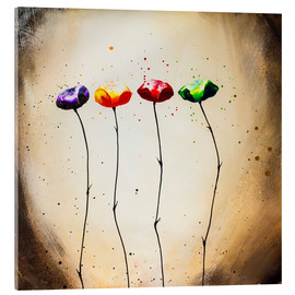 Acrylic glass  four times flowering - Yannick Leniger