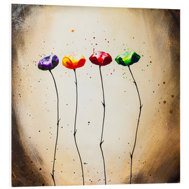 Foam board print  four times flowering - Yannick Leniger