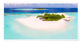 Premium poster Aerial view of island in the Maldives