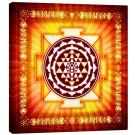 Canvas print  Sri Yantra Energy Light - Dirk Czarnota
