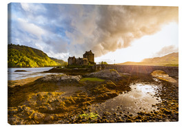 Canvas  Eilean Donan Castle in the Highlands, Scotland - Dieterich Fotografie