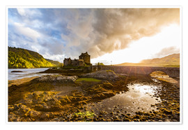 Premium poster  Eilean Donan Castle in the Highlands, Scotland - Dieterich Fotografie