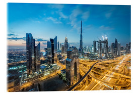 Acrylic print  Dubai City lights - Dieter Meyrl