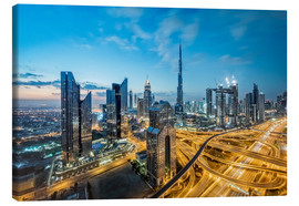 Canvas print  Dubai City lights - Dieter Meyrl