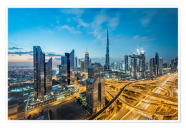 Premium poster Dubai City lights