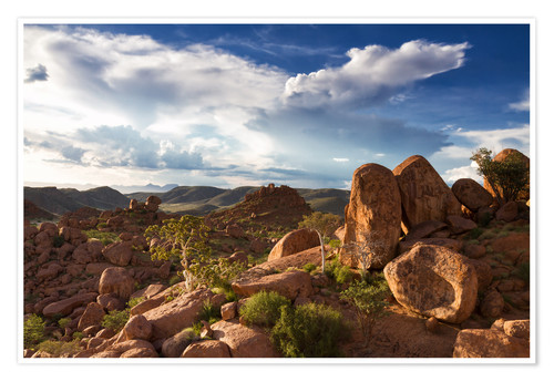 Premium poster Beautiful landscape in Damaraland, Namibia, Africa