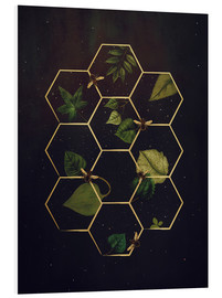 Foam board print  bees in space - Sybille Sterk