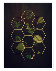 Poster  bees in space - Sybille Sterk