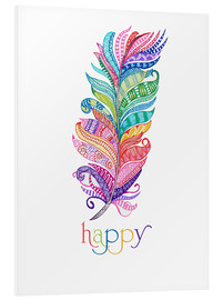 Foam board print  Happy - MiaMia