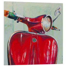 Foam board print  Vespa red - Renate Berghaus