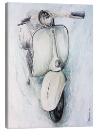 Canvas print  Vespa white - Renate Berghaus