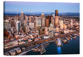 Canvas print  Aerial view of Seattle skyline, USA - Matteo Colombo