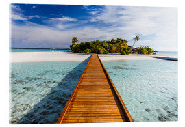 Acrylic glass  Jetty to tropical island, Maldives - Matteo Colombo