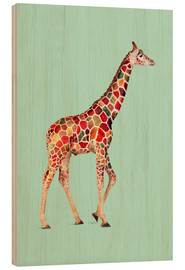 Wood  COLORED GIRAFFE - Jonas Loose