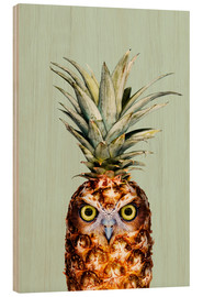 Wood print  Pineapple Owl - Jonas Loose