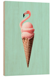 Wood print  Flamingo Cone - Jonas Loose