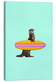 Canvas print  SURFING OTTER - Jonas Loose
