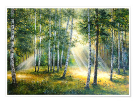 Premium poster  Sunlight in the green forest - Ludmilla Gittel