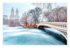 Premium poster  Central Park Winter, Bow Bridge - Sascha Kilmer