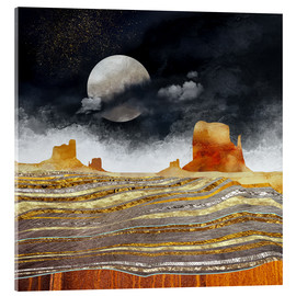 Acrylic print  Metallic Desert - SpaceFrog Designs
