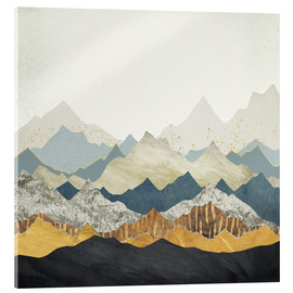 Acrylic print  Distant Peaks - SpaceFrog Designs