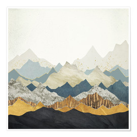 Poster  Distant Peaks - SpaceFrog Designs
