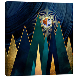 Canvas print  Metallic Peaks - SpaceFrog Designs