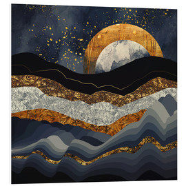 Foam board print  Metallic Mountains - SpaceFrog Designs