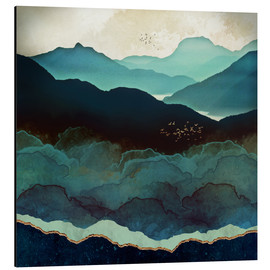 Aluminium print  Indigo Mountains - SpaceFrog Designs