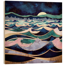 Wood print  Moonlit Ocean - SpaceFrog Designs