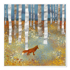 Premium poster Autumn Fox