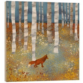 Wood print  Autumn Fox - SpaceFrog Designs