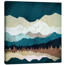 Canvas print  Fall Forest Night - SpaceFrog Designs