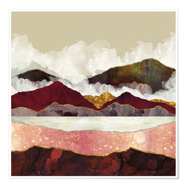 Poster  Melon Mountains - SpaceFrog Designs