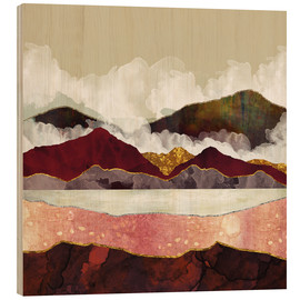 Wood print  Melon Mountains - SpaceFrog Designs