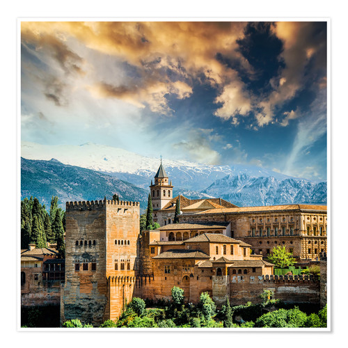 Premium poster View of the famous Alhambra