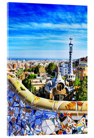 Acrylic glass  Park Guell in Barcelona