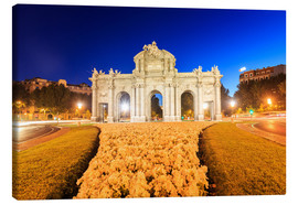Canvas print  Night view of the Puerta de Alcala