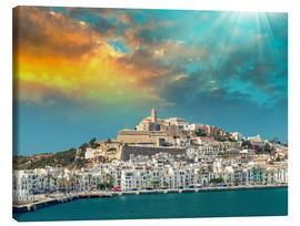 Canvas print  Sunset over Ibiza