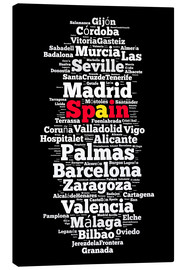 Canvas print  Localities in Spain