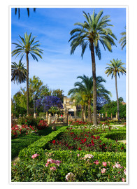 Poster  Gardens of the Museum of Seville
