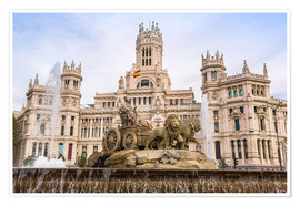Premium poster  Cibeles Fountain at Plaza de Cibeles in Madrid