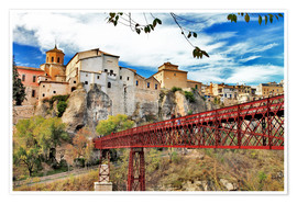 Premium poster Cuenca,view with bridge
