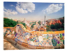 Acrylic print  The Park Guell in Barcelona