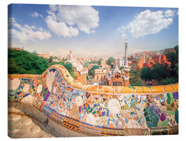 Canvas  The Park Guell in Barcelona