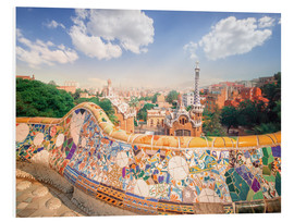 Foam board print  The Park Guell in Barcelona